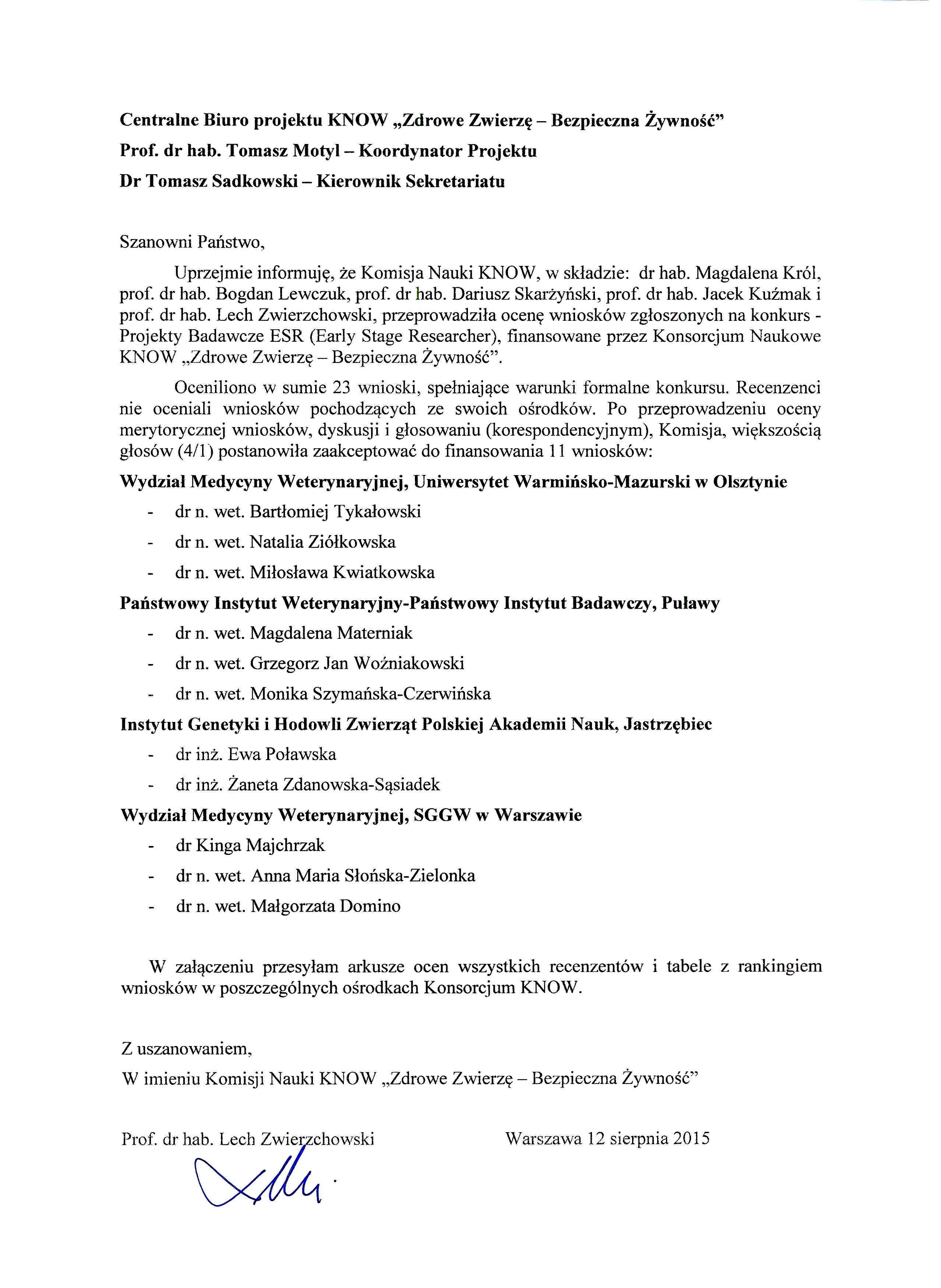 Protokół Komisji ESR