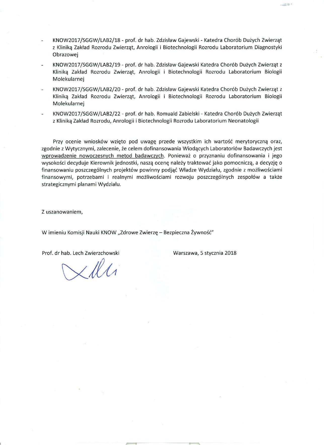 Decyzja Komisji Nauki